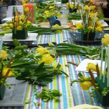 Chaque mois nous nous retrouvons pour l'atelier d'art floral